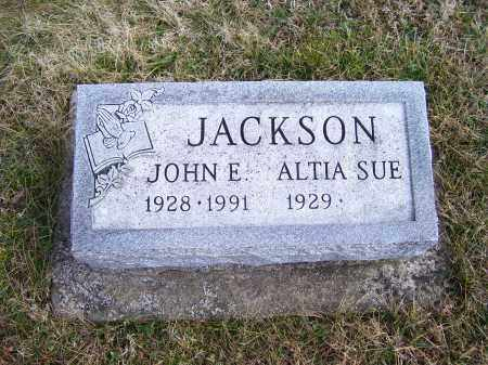 JACKSON, JOHN E. - Highland County, Ohio | JOHN E. JACKSON - Ohio Gravestone Photos