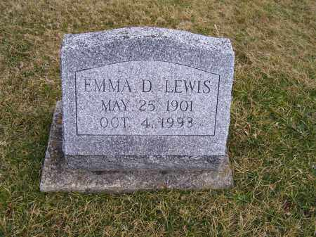 LEWIS, EMMA D. - Highland County, Ohio | EMMA D. LEWIS - Ohio Gravestone Photos