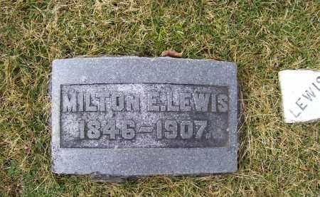 LEWIS, MILTON E. - Highland County, Ohio | MILTON E. LEWIS - Ohio Gravestone Photos