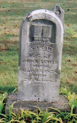 LEWIS, SARAH - Highland County, Ohio | SARAH LEWIS - Ohio Gravestone Photos