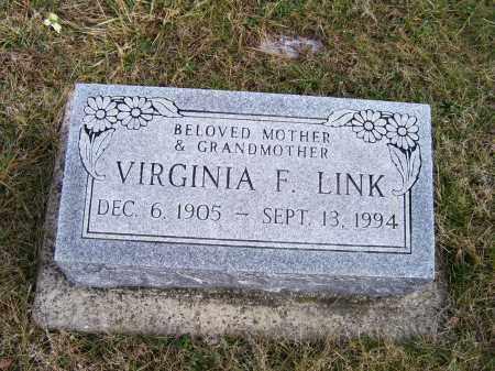 LINK, VIRGINIA F. - Highland County, Ohio | VIRGINIA F. LINK - Ohio Gravestone Photos
