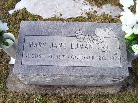 LUMAN, MARY JANE - Highland County, Ohio | MARY JANE LUMAN - Ohio Gravestone Photos