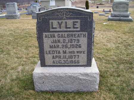 LYLE, ALVA GALBREATH - Highland County, Ohio | ALVA GALBREATH LYLE - Ohio Gravestone Photos