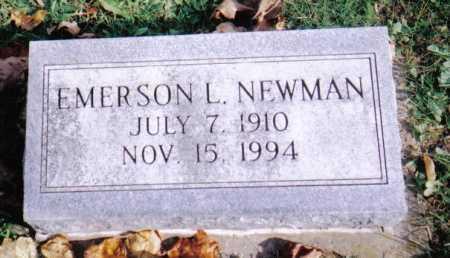 NEWMAN, EMERSON L. - Highland County, Ohio | EMERSON L. NEWMAN - Ohio Gravestone Photos