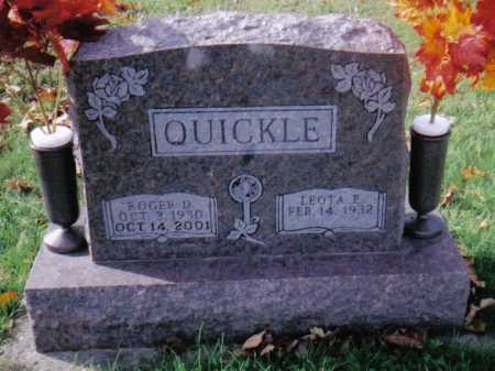 QUICKLE, ROGER D. - Highland County, Ohio | ROGER D. QUICKLE - Ohio Gravestone Photos