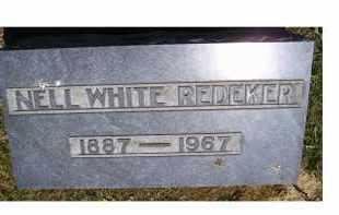 REDEKER, NELL WHITE - Highland County, Ohio | NELL WHITE REDEKER - Ohio Gravestone Photos