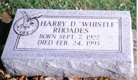 "RHOADES, HARRY D. ""WHISTLE"" - Highland County, Ohio | HARRY D. ""WHISTLE"" RHOADES - Ohio Gravestone Photos"