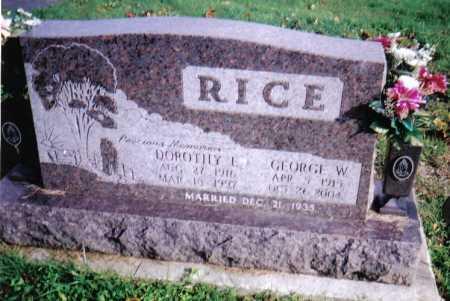RICE, GEORGE W. - Highland County, Ohio | GEORGE W. RICE - Ohio Gravestone Photos