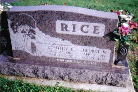 RICE, GEORGE W. - Highland County, Ohio | GEORGE W. RICE - Ohio Gravestone Photos
