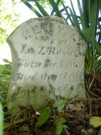 ROSSELOT, HENRY A - Highland County, Ohio   HENRY A ROSSELOT - Ohio Gravestone Photos