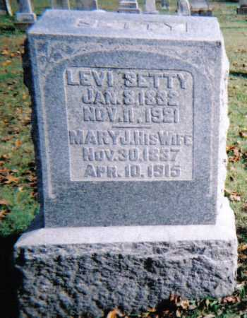 SETTY, MARY J. - Highland County, Ohio | MARY J. SETTY - Ohio Gravestone Photos