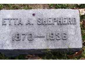 SHEPHERD, ETTA A. - Highland County, Ohio | ETTA A. SHEPHERD - Ohio Gravestone Photos