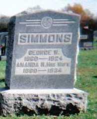 SIMMONS, AMANDA H. - Highland County, Ohio | AMANDA H. SIMMONS - Ohio Gravestone Photos