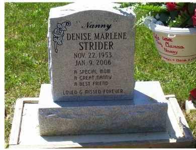 STRIDER, DENISE MARLENE - Highland County, Ohio | DENISE MARLENE STRIDER - Ohio Gravestone Photos