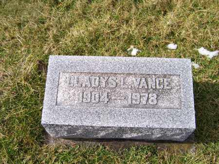 VANCE, GLADYS L. - Highland County, Ohio   GLADYS L. VANCE - Ohio Gravestone Photos