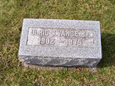 VANCE, ULRIC S. JR. - Highland County, Ohio | ULRIC S. JR. VANCE - Ohio Gravestone Photos