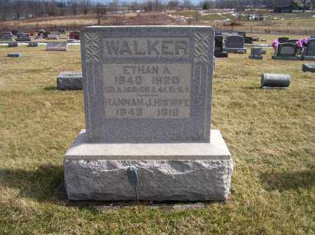 WALKER, HANNAH J. - Highland County, Ohio | HANNAH J. WALKER - Ohio Gravestone Photos