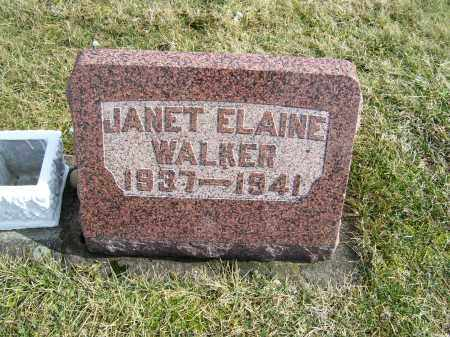 WALKER, JANET ELAINE - Highland County, Ohio   JANET ELAINE WALKER - Ohio Gravestone Photos