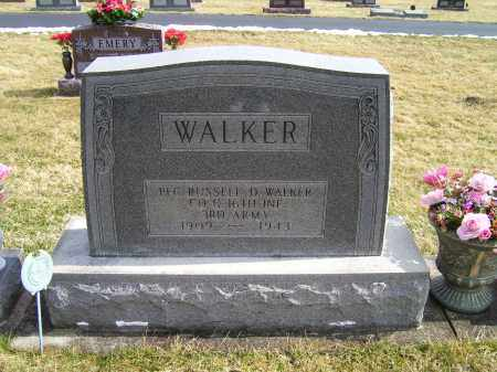WALKER, RUSSELL D. - Highland County, Ohio | RUSSELL D. WALKER - Ohio Gravestone Photos