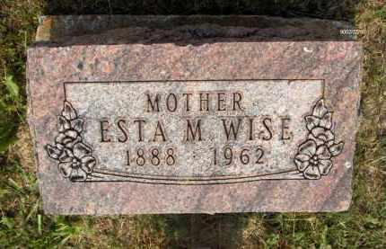 WISE, ESTA M - Highland County, Ohio | ESTA M WISE - Ohio Gravestone Photos