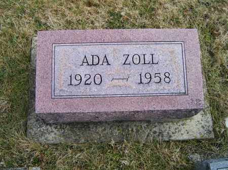 ZOLL, ADA - Highland County, Ohio   ADA ZOLL - Ohio Gravestone Photos