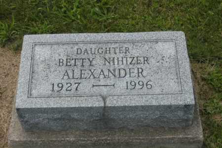 NIHIZER ALEXANDER, BETTY - Hocking County, Ohio | BETTY NIHIZER ALEXANDER - Ohio Gravestone Photos