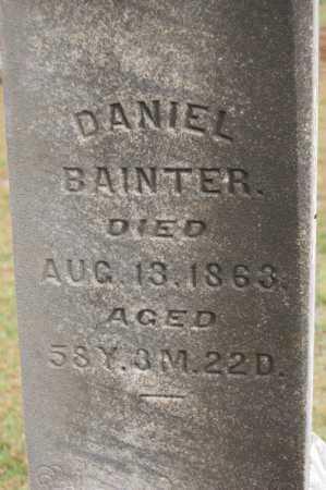 BAINTER, DANIEL - Hocking County, Ohio   DANIEL BAINTER - Ohio Gravestone Photos