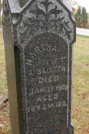 BAINTER, MARTHA - Hocking County, Ohio   MARTHA BAINTER - Ohio Gravestone Photos