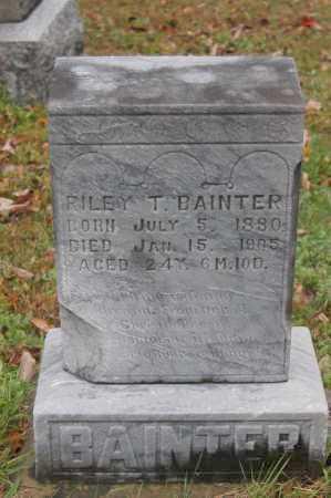 BAINTER, RILEY T. - Hocking County, Ohio | RILEY T. BAINTER - Ohio Gravestone Photos