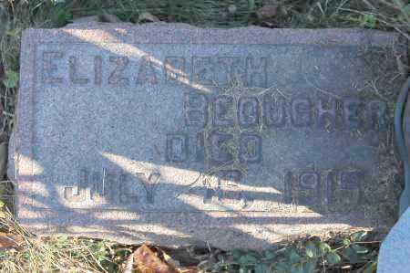 BEOUGHER, ELIZABETH - Hocking County, Ohio | ELIZABETH BEOUGHER - Ohio Gravestone Photos