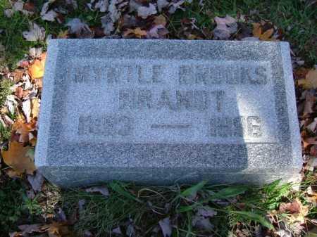 BROOKS BRANDT, MYRTLE - Hocking County, Ohio | MYRTLE BROOKS BRANDT - Ohio Gravestone Photos