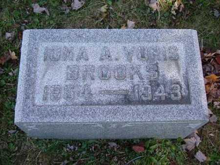 VORIS BROOKS, IONA ANNIE - Hocking County, Ohio | IONA ANNIE VORIS BROOKS - Ohio Gravestone Photos