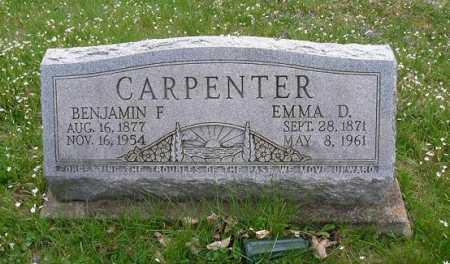 CARPENTER, BENJAMIN F. - Hocking County, Ohio | BENJAMIN F. CARPENTER - Ohio Gravestone Photos