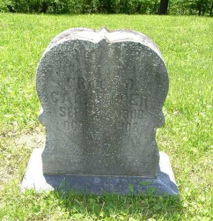 CARPENTER, CHILD - Hocking County, Ohio   CHILD CARPENTER - Ohio Gravestone Photos