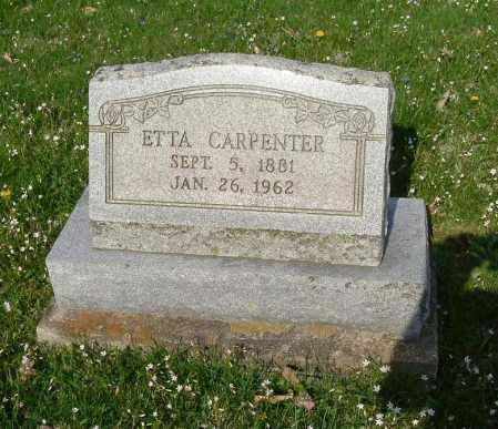 CARPENTER, ETTA - Hocking County, Ohio | ETTA CARPENTER - Ohio Gravestone Photos