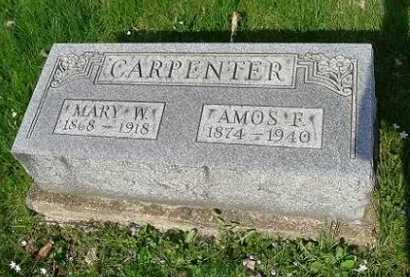 CARPENTER, AMOS F. - Hocking County, Ohio | AMOS F. CARPENTER - Ohio Gravestone Photos