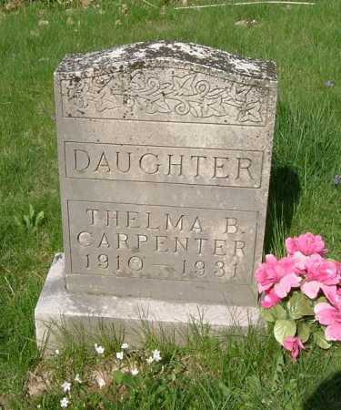 CARPENTER, THELMA B. - Hocking County, Ohio | THELMA B. CARPENTER - Ohio Gravestone Photos
