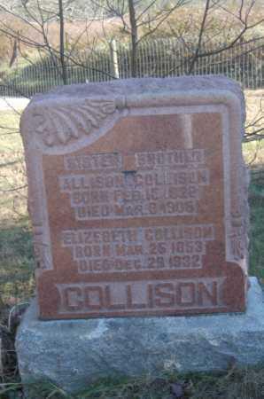 COLLISON, ELIZABETH - Hocking County, Ohio | ELIZABETH COLLISON - Ohio Gravestone Photos