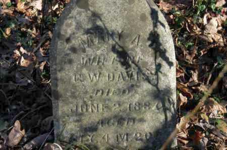 DAVIS, MARY A - Hocking County, Ohio | MARY A DAVIS - Ohio Gravestone Photos