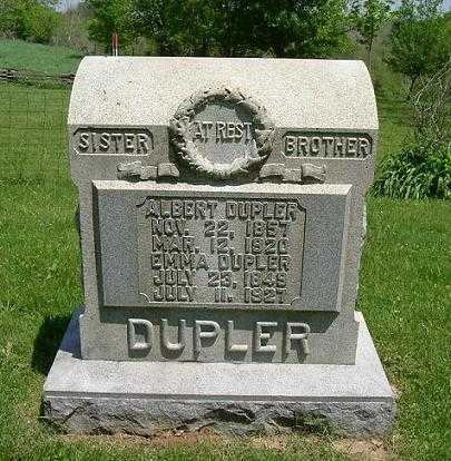 DUPLER, EMMA - Hocking County, Ohio | EMMA DUPLER - Ohio Gravestone Photos