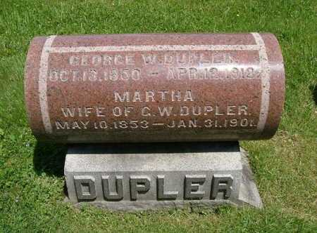 DUPLER, MARTHA - Hocking County, Ohio   MARTHA DUPLER - Ohio Gravestone Photos