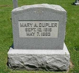 DUPLER, MARY A. - Hocking County, Ohio | MARY A. DUPLER - Ohio Gravestone Photos