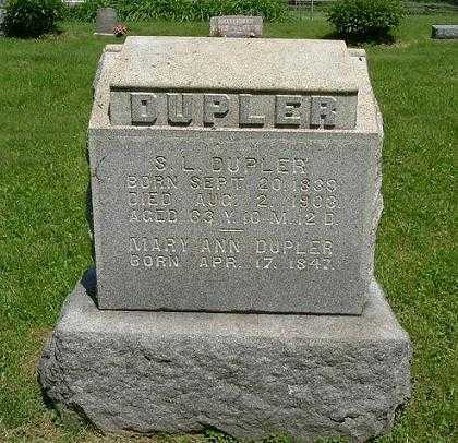 DUPLER, S. L. - Hocking County, Ohio | S. L. DUPLER - Ohio Gravestone Photos