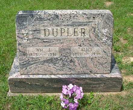 DUPLER, WILLIAM J. - Hocking County, Ohio | WILLIAM J. DUPLER - Ohio Gravestone Photos