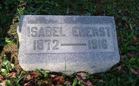 EBERST, ISABEL - Hocking County, Ohio   ISABEL EBERST - Ohio Gravestone Photos
