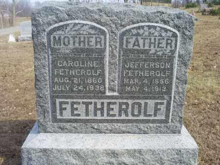 FETHEROLF, JEFFERSON - Hocking County, Ohio   JEFFERSON FETHEROLF - Ohio Gravestone Photos