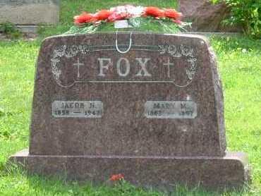 FOX, JACOB N. - Hocking County, Ohio | JACOB N. FOX - Ohio Gravestone Photos