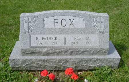 FOX, R. PATRICK - Hocking County, Ohio | R. PATRICK FOX - Ohio Gravestone Photos