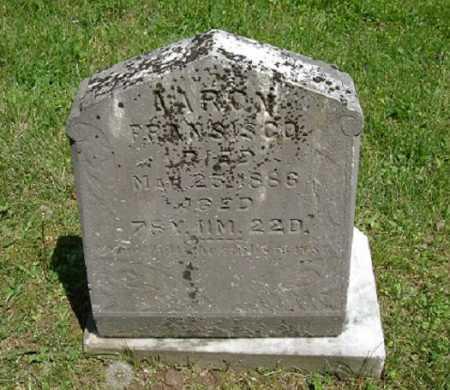 FRANCISCO, AARON - Hocking County, Ohio   AARON FRANCISCO - Ohio Gravestone Photos
