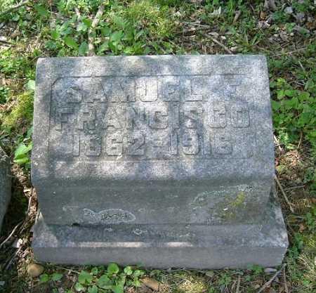 FRANCISCO, SAMUEL F. - Hocking County, Ohio   SAMUEL F. FRANCISCO - Ohio Gravestone Photos